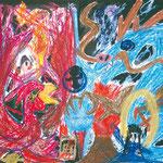 「闇の中で戦う朱雀と鳳凰」 パク・ヤンフン 神戸朝鮮初中級学校