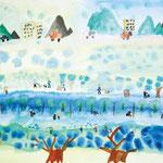 「川辺の風景」 リ・チファン 東京朝鮮第五初中級学校