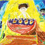 「たこ焼きを焼くオモニ」 チョン・ヒョンウ 神戸朝鮮初中級学校