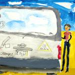 「写った雲とソンセンニム」 キム・ミョンラン 山口朝鮮初中級学校