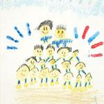 「運動会」 バク・サンホ 北海道朝鮮初中高級学校