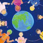 「地球は一つ」 チャン セナ 東京朝鮮第五初中級学校