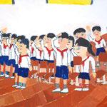 「少年団入団式」 キム・テソン 西播朝鮮初中級学校