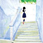 「3階に上がる階段で」 チェ サア 広島朝鮮初中高級学校