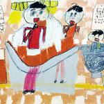 「焼肉を食べるみんな」 チョン・ジュフィ 尼崎朝鮮初中級学校