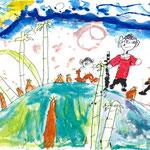 「たけのこ狩りは楽しいなぁ」 パク・リク 大阪朝鮮第四初級学校