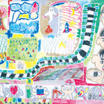 「言葉と絵のハーモニー」 キム・ギュチャン 伊丹朝鮮初級学校