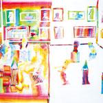 「美術館の中の静と動」 チェ・リョンファ 大阪朝鮮第四初級学校