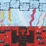 「版画・世界のはじめと終わり<世界の運命>」 キム・リス 神戸朝鮮初中級学校
