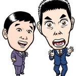 似顔絵見本(爆笑問題)/としぼー画
