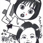 似顔絵見本/作成:山田うさこ