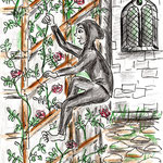 Bärbel Eberius, Sahrine klettert die Rosenranken hinauf