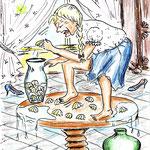 Bärbel Eberius, Sahrine zertrampelt Muscheln