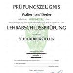 Lehrabschlussprüfung im Beruf Schilderhersteller
