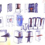 Bücher skizze