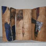 Altarbild, Installation mit Buchobjekt Cassandra