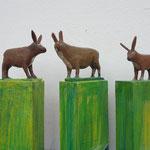 Falscher Buxtehuder Hase ,Holz /10 x  6 x5 cm ( alle verkauft)