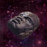 olmec-head in Red-Purple Space