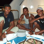 Maher - Hamada - Tiger; Crew Dinner on Deck