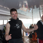 Brian war sooo begeistert vom Thomas Reef an der Strasse von Tiran.
