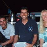 Hani - Nader - Chris; Crew Dinner on Deck