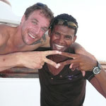 Heimi our friend and crazy Tek diver with Captain Maher