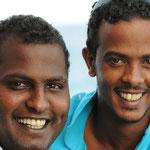 Bako Bossa und Mustafa unsere Seemänner - Foto von Michael Gmür