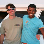 Brian, our Marine Biologyst and Maher, our Captain.