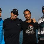 Photo von Günter Gerstl (vlnr) Brian, Erich, Abdo, Maher