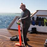 Erik, unser Unterwasserfotografie-Workshop-Leiter (was für eine Betitelung!!!)