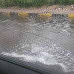 Schwimmen im Auto