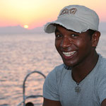 Musty, our young motivated dive guide. He will show you all the cool things while diving.