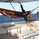 heimi flying in the hammock