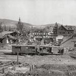 Der zerstörte Bahnhof von St. Wendel am 20. März 1945 [© Sammlung Roland Geiger]