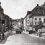 St. Wendel, Adolf-Hitler-Straße, um 1938 [© Sammlung Roland Geiger]
