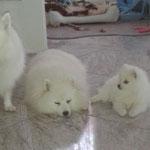 Toka mit ihrem großen Bruder und Mama Quiana