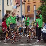 auch die Radfahrer sind vertreten