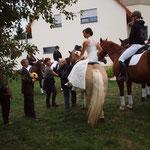 .... und dann noch selbst aufs Pferd  ....