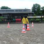 Einen Parcours aus Pylonen bauen