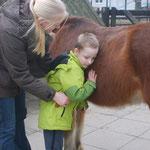 Individuelle Kontaktaufnahme zum Pferd