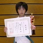 ルーキー・トーナメント軽重量級 第三位:横溝萌絵