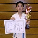 ルーキー・トーナメント軽重量級 優勝:山下祐司