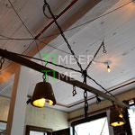 Esstischlampe Beton Holz