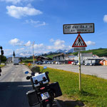 Unscheinbarer Pass Col des Saisies