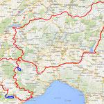 Gesamtroute - 3.160 km