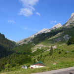 Hinauf zum Col de la Colombiere