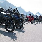 Furkajoch - ein beliebtes Ausflugsziel für Motorradfahrer