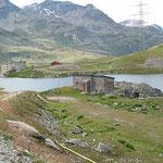 Einer der zwei Seen am Berninapass.
