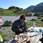 Frühstück in 2.500 m Höhe