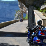 Honda Goldwing in der Combe Laval